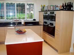 Designer Fitted Kitchens Designer Fitted Kitchen In Oak U0026 Red Gloss Lacquer