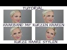 Bob Frisur Mit Styling Anleitung by Kurze Haare Stylen Zwei Haarband Frisuren