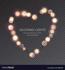 valentines lights valentines day glowing lights heart on royalty free vector