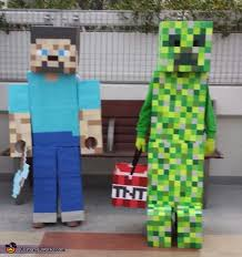 minecraft costumes minecraft steve creeper costumes
