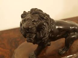 antique bronze lion christian davies a japanese meiji period antique bronze lion