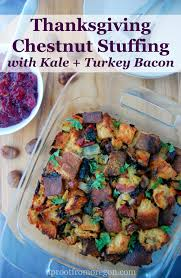 chestnut with kale and turkey bacon