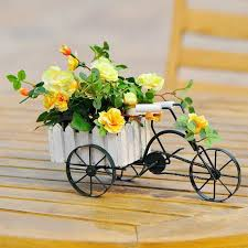 creative pastoral style home iron metal retro small bicycle basket
