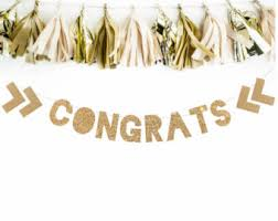 congratulations engagement banner congrats banner etsy