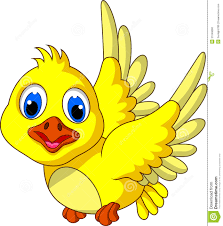 cute yellow bird cartoon flying stock photo image 31046660