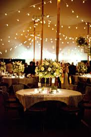 Outdoor Cafe Lighting by Tent Reception String Lights Elizabeth Anne Designs The Wedding