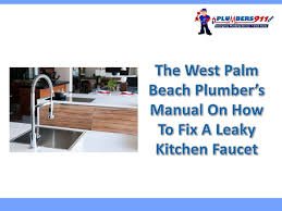 the west palm beach plumber u0027s manual on how to fix a leaky kitchen