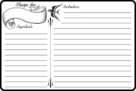 printable recipes templates blank recipe template how to create a recipe template techwalla com