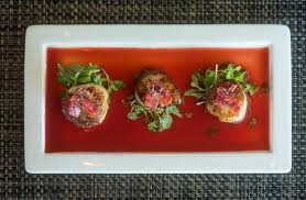 gastrique cuisine scallops in a blood orange gastrique picture of escena lounge