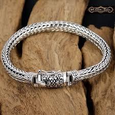 silver weave bracelet images 925 sterling silver bali viking weave chain bracelet 8 2 quot 7mm jpg