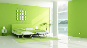 Green Bedroom Walls by Fresh Green Theme Interior Decoration Trends With Modern Home For