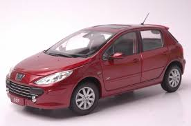 peugeot cars models 1 18 diecast model for peugeot 307 red hatchback alloy toy car
