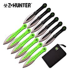 12 piece zombie thrower set historical reference currently zombie hunter throwing knife set