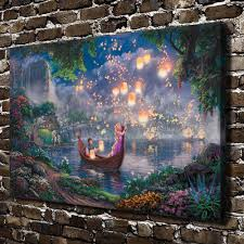 aliexpress buy h1208 kinkade tangled hd canvas print