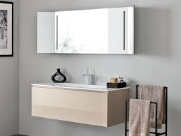 bathroom wall mirrors with shelf