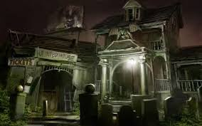 haunted graveyard wallpaper download