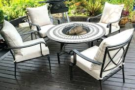 Patio Sets With Fire Pit Dining Table Deluxe Design Patio Furniture Set Fire Pit Pillows