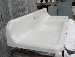 vintage cast iron sink drainboard vintage richmond cast iron kitchen sink recycling the past