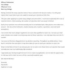 hilarious responses to college rejection letters