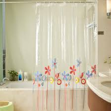 transparent flower shower curtains for bathroom pvc extra long