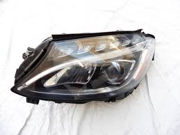 mercedes benz w205 c class front left driver led headlight