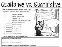 qualitative vs quantitative observations worksheet u2013 middle