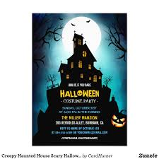scary halloween party invitations creepy haunted house scary halloween party card halloween