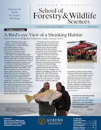 auburn alumni search newsletter archive school of forestry wildlife sciences