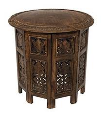 carved wood coffee table amazon com cotton craft jaipur solid wood hand carved accent coffee