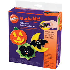 halloween stackable cookie cutter set wilton