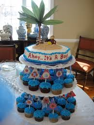 ahoy its a boy u0027 nautical baby shower theme sailboat cupcakes and