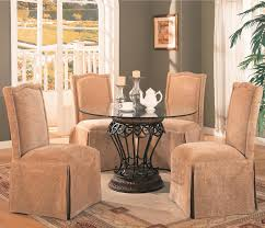 glass parsons dining table dining room interactive small dining room decoration using round