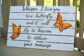 homewarming gift whisper i love you to a butterfly wooden pallet sign christmas