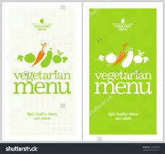 restaurant vegetarian menu cards design template stock vector