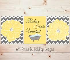 Bathroom Wall Decoration Ideas by Yellow And Gray Bathroom Accessories Bathroom Decor