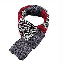 fashion mens striped aztec argyle pattern winter neck warm wrap