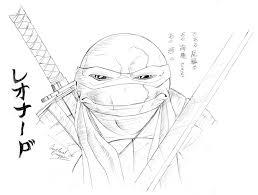 leo face study ninja turtles deviantart