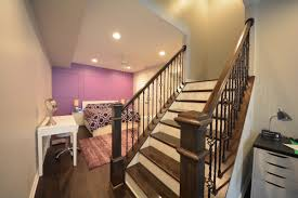 Refinish Banister Stair Basement Stair Ideas Unfinished Basement Wall Ideas