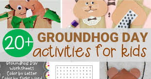 fun groundhog activities kids