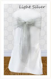 silver chair sashes chair sash hire for weddings