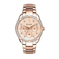 bulova ladies diamond bracelet watches images Striking rose gold watches from h samuel avenue15 co uk