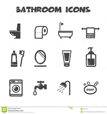 plumbing icons water pipe and shower toilet sink vector symbols