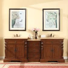 Double Sink Bathroom Accord 90 Inch Double Sink Bathroom Vanity Roman Vein Cut