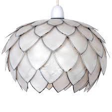 Zenza Filisky Oval Pendant Ceiling Light White Artichoke Capiz Pendant Dunelm House Pinterest