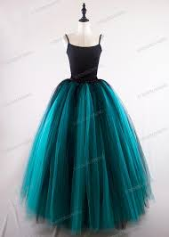 teal tulle black teal green tulle skirt d1s005 d roseblooming