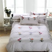 aliexpress buy luxury satin cotton embroidery bedding sets