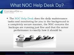 What Does It Help Desk Do Noc Help Desk Services With Concordantone Tech