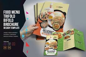 food menu trifold bifold brochure brochure templates creative