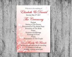 Diy Wedding Programs Diy Wedding Program