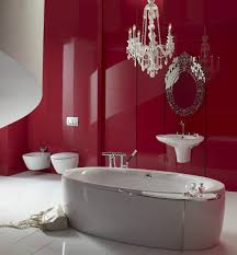 bathroom contemporary maroon bathroom design crystal chandelier